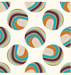 Mid century modern vintage pattern background vector