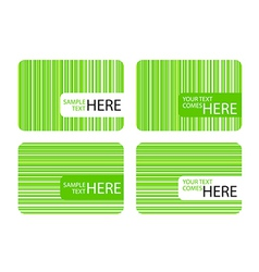 Modern Business Cards with Green Stripes vector