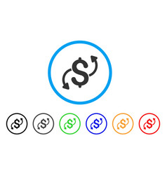 money transfer rounded icon vector image