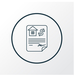 Mortgage loan icon line symbol premium quality vector