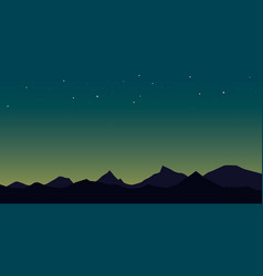 Mountains in the fog vector