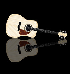 pale acoustic guitar reflection vector image