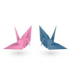 paper bird vector image