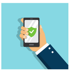 Phone protected with strong password vector