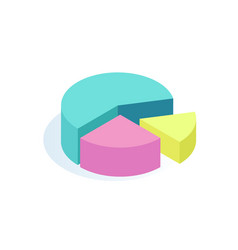 pie rounded diagrams icon vector image