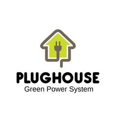 Plug house design vector