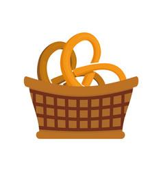 pretzel basked vector image