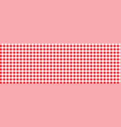 red retro tablecloth texture vector image