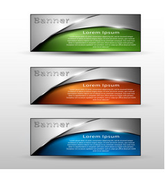 set of colored info graphic banners vector image