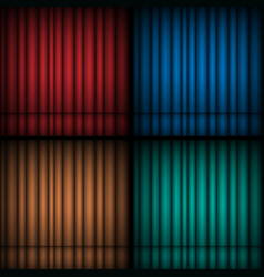 Set of realistic theatrical closed curtains vector