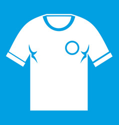 soccer shirt icon white vector image