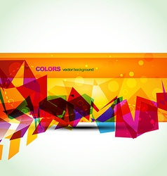 stylish colorful eps10 banner vector image