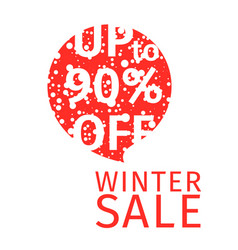 stylized winter sale banner in the dialogue tag vector image