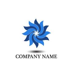 swirl wave logo vector image