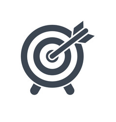 target glyph icon flat icon isolated on vector image