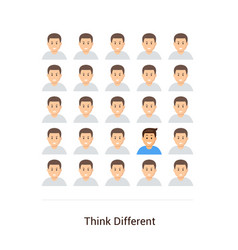 think different flat poster vector image