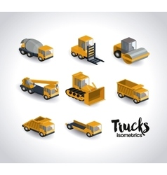 trucks isometrics design vector image
