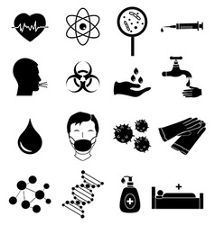 Virus infection icons set vector