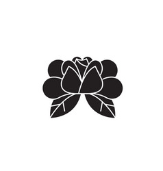 water lily black concept icon water lily vector image
