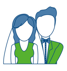 Wedding couple icon vector