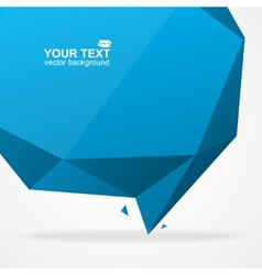 Abstract origami polygonal shape vector image