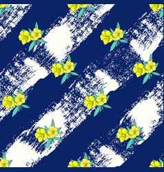 exotic colorful flowers on a white-blue background vector image vector image