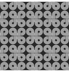 Linear seamless pattern twisted parallel circles vector image