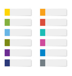 set of sticky note paper sheets isolated vector image