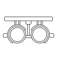 Trial lense frames icon outline style vector