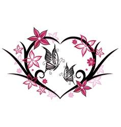 floral elements wedding vector image