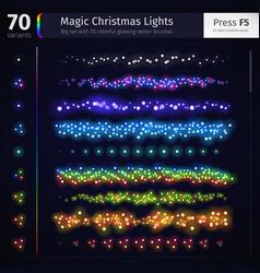 Magic Christmas Lights vector image