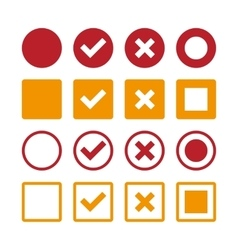 marks Icons vector image vector image