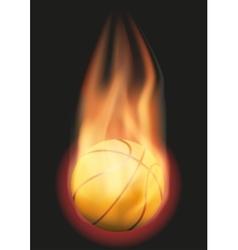 Basketball ball with flame vector image