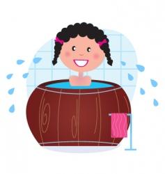 bathing vector image