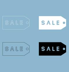 label sale the black and white color icon vector image