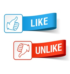 Like and unlike symbols vector image vector image