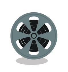 reel cinema isolated icon vector image