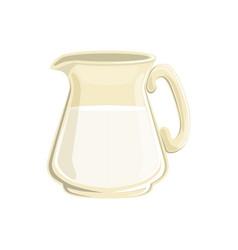 glass jug of milk vector image