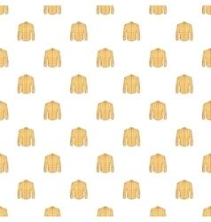 Men shirt pattern cartoon style vector image vector image