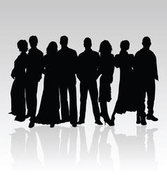 people black silhouette vector image