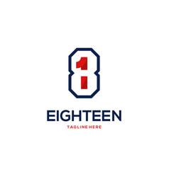 18eighteen numeric abstract creative logo vector