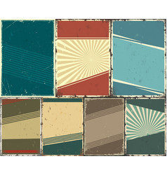 abstract retro templates set vector image