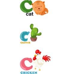 Alphabet letter - c vector