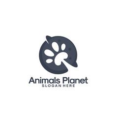 animals planet logo designs planet logo template vector image