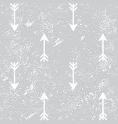 arrows grunge seamless aztec pattern vector image