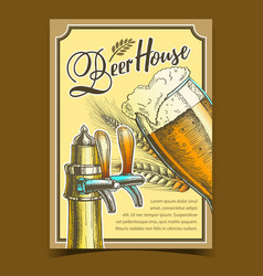 Beer house freshness drink advertise poster vector