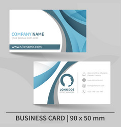 blue creative business card template vector image