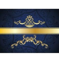 Blue decorative background vector