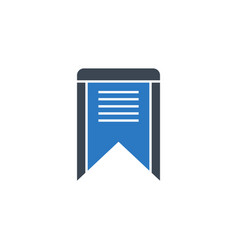 bookmark related glyph icon vector image