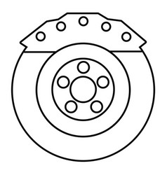 brake shoe icon outline style vector image vector image